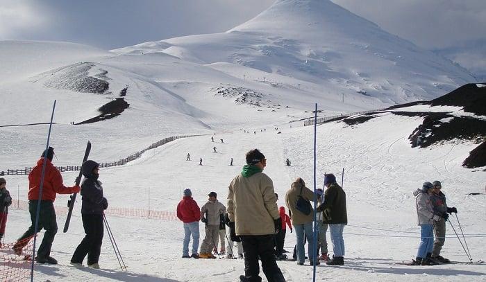 Centro de esqui no Vulcão Osorno em Puerto Varas