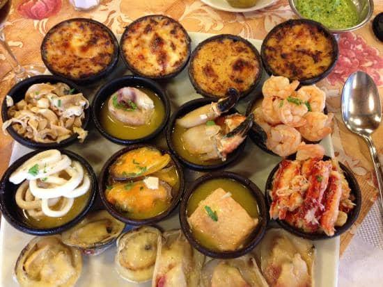 Frutos do mar do Restaurante La Olla em Puerto Varas