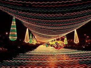Natal em Valparaíso: luzes