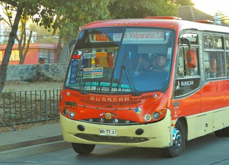 Ônibus em Valparaíso