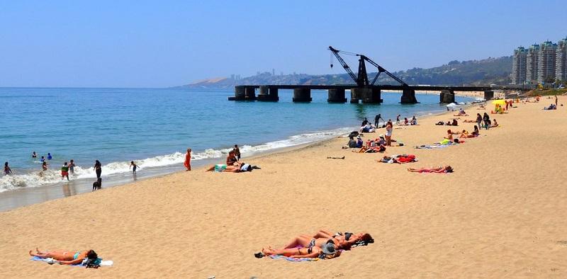 Praia em Viña del Mar
