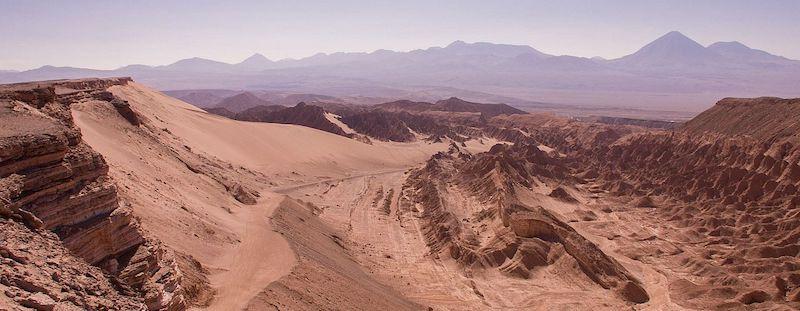 Valle de Marte em San Pedro de Atacama no Chile: areia