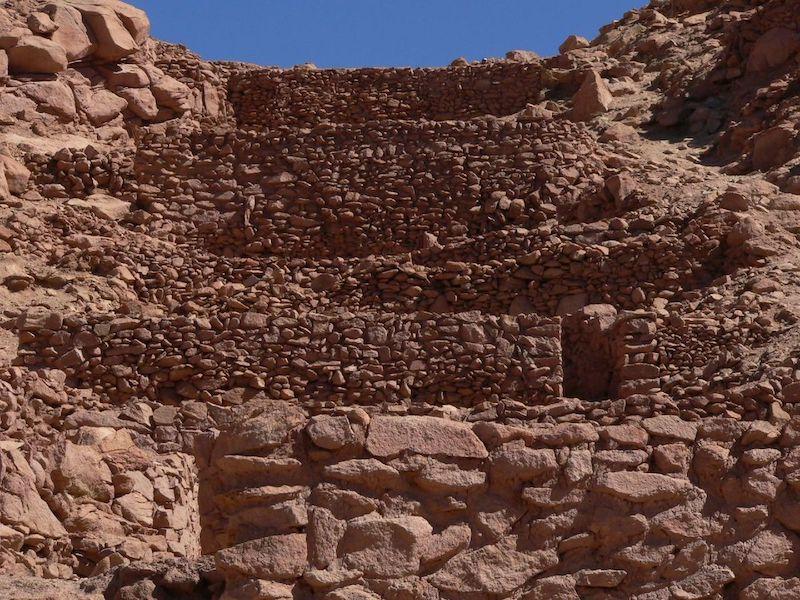 Sítio arqueológico Pukará de Quitor em San Pedro de Atacama no Chile: construções