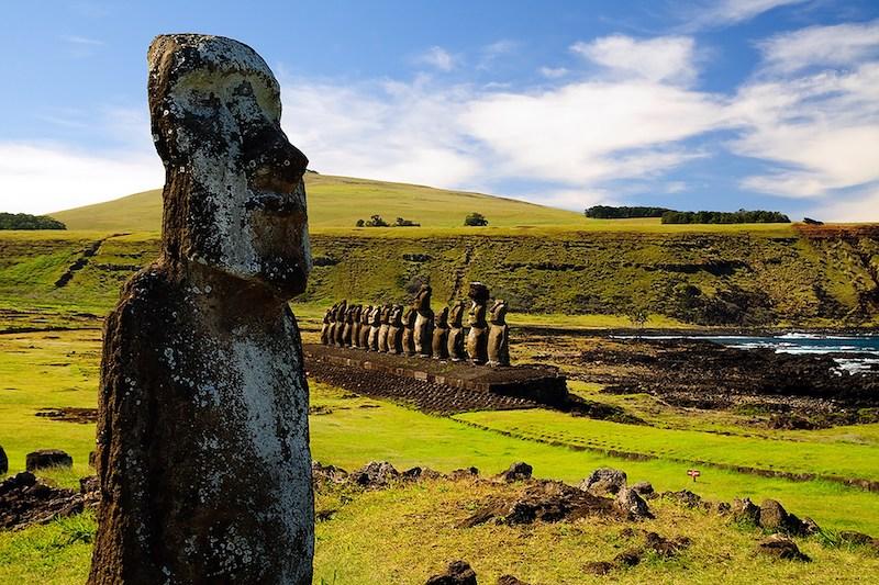 Parque Nacional Rapa Nui na Ilha de Páscoa no Chile