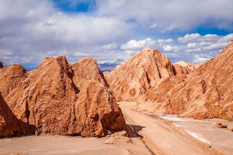 Valle de Marte em San Pedro de Atacama no Chile: rochas