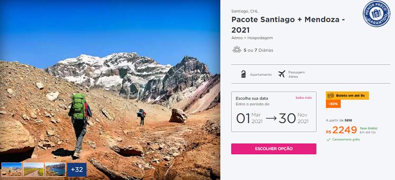 Pacote Santiago + Mendoza: Hurb