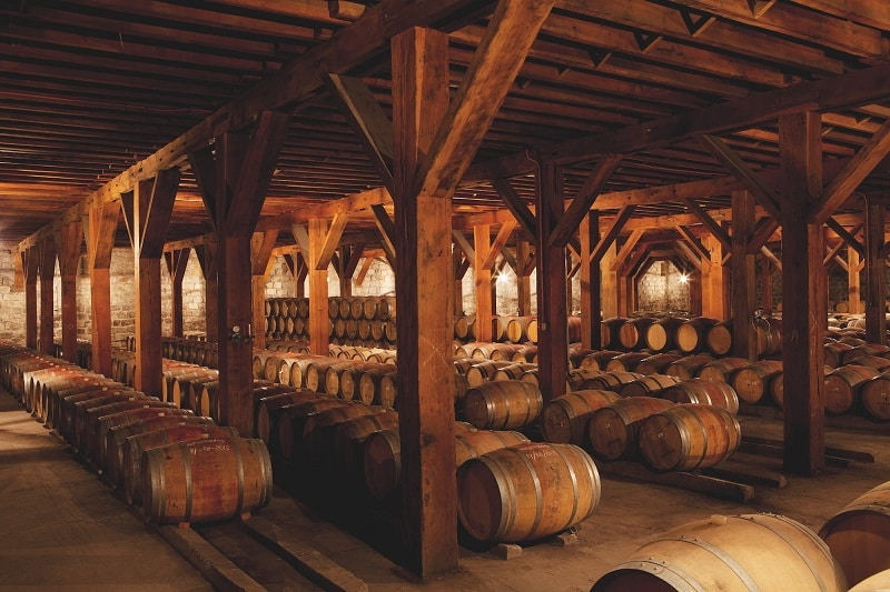Barris na vinícola Santa Rita no Chile