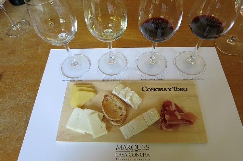 Degustação na vinícola Concha y Toro Marques - Chile