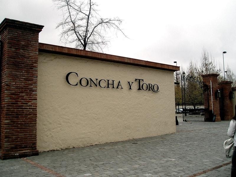Fachada da vinícola Concha y Toro no Chile