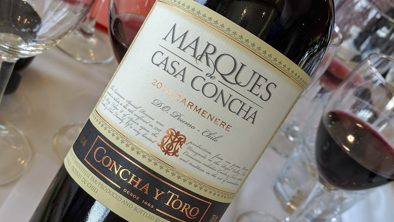 Vinho da Concha y Toro no Chile