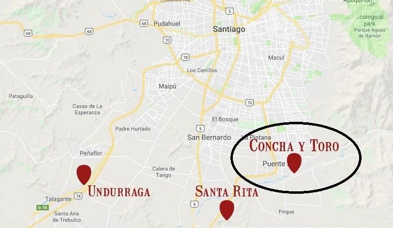 Concha y Toro Marques - Mapa