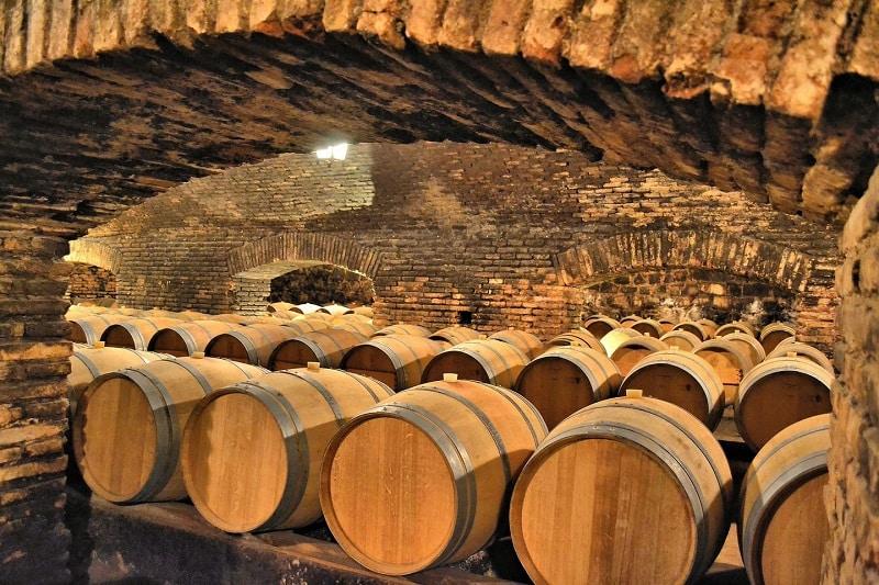 Barris na vinícola Concha y Toro