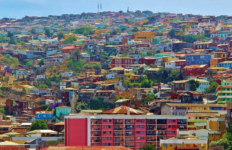 Casas coloridas de Valparaíso - Chile