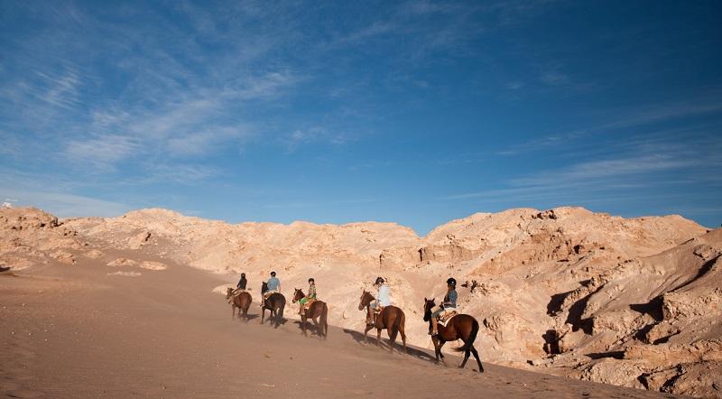 Passeio a cavalo no Atacama