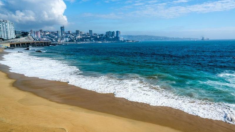 Praia em Viña del Mar - Chile