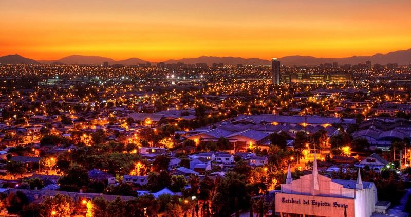 Santiago do Chile toda iluminada