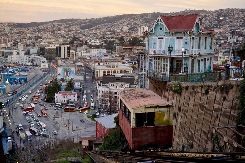 Ascensor Artilleria em Valparaíso