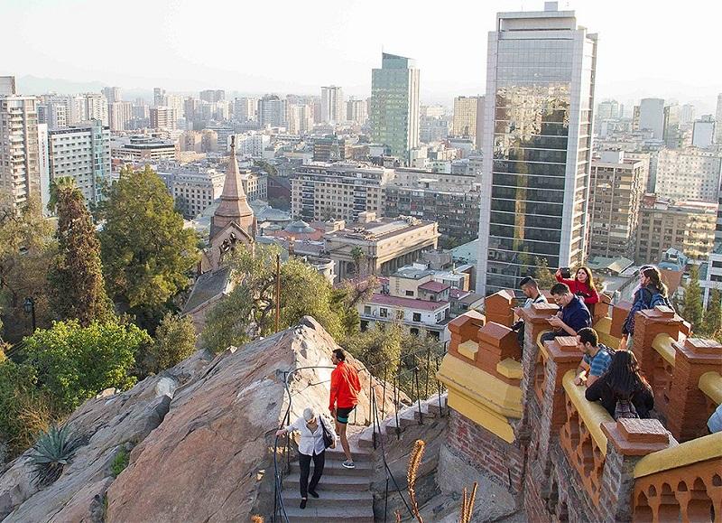 Cerro Santa Lucía em Santiago