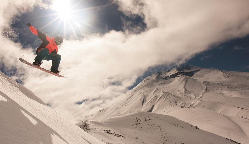 Fotos andando de esqui em Santiago