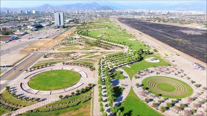 Parque Bicentenário em Santiago