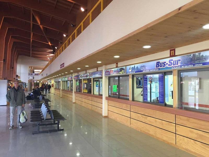 Terminal de ônibus em Puerto Natales